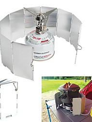 abordables -Plato para camping Utensilios de cocina Resistente al Viento / Ligero / Mini Aluminio Al aire libre para Senderismo / Camping Plata