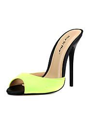 abordables -Femme Chaussures Soie Eté A Bride Arrière Sandales Talon Aiguille Bout rond Vert / Bleu / Bleu clair / Mariage / Soirée & Evénement