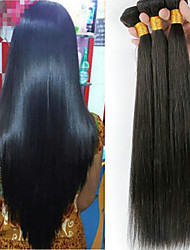 cheap -4 Bundles Malaysian Hair Straight Human Hair Natural Color Hair Weaves / Hair Bulk / Extension / Human Hair Extensions Natural Color Human Hair Weaves Soft / Classic / Hot Sale Human Hair Extensions