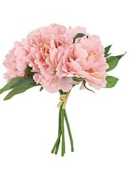 cheap -Artificial Flowers 5 Branch Party / Pastoral Style Peonies / Eternal Flower Tabletop Flower