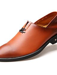 cheap -Men's Cowhide Winter Comfort Loafers & Slip-Ons Brown