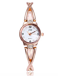 abordables -Femme Montre Bracelet / Bracelet de Montre Chinois Imitation de diamant / Montre Décontractée Alliage Bande Minimaliste / Mode Argent /