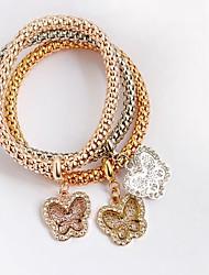 abordables -Charmes pour Bracelets - Cœur Mode Bracelet Jaune Clair / Marron / Champagne Pour Cadeau / Quotidien