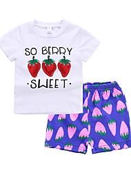 Недорогие -Дети (1-4 лет) Девочки Фрукты С короткими рукавами Набор одежды