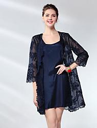 cheap -Proverb women's silk sheath dress - solid colored mini