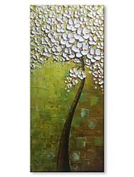 baratos -Pintura a Óleo Pintados à mão - Abstrato Floral / Botânico Contemprâneo Modern Tela de pintura