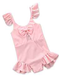 cheap -Toddler Girls' Solid Colored Sleeveless Swimwear