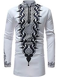 Недорогие -Муж. Рубашка Активный Классический Геометрический принт