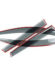economico -4pcs Auto Deflettori e scudi trasparente Tipo di fibbia / Incolla il tipo For Finestrino della macchina For Nissan Qashqai 2018 / 2017 /
