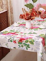 baratos -Moderna PVC / Algodão Quadrada Toalhas de Mesa Floral Decorações de mesa 1 pcs