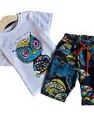 Недорогие -Дети Дети (1-4 лет) Мальчики Геометрический принт С короткими рукавами Набор одежды