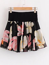 cheap -Women's Active A Line Skirts - Floral