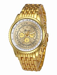 cheap -Men's Dress Watch Chinese Chronograph / Large Dial / Cool Stainless Steel Band Luxury Silver / Gold