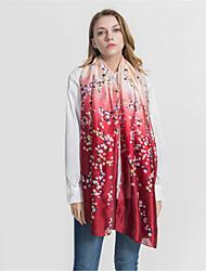 abordables -Mujer Volante Rectángulo - Vintage / Vacaciones Floral / Estampado Cerezo