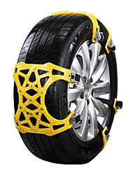 abordables -6pcs Coche Cadenas de nieve Negocios Tipo de hebilla For Llanta de carro For Universal Todos los modelos Todos los Años