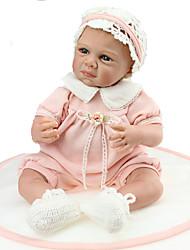baratos -NPKCOLLECTION Bonecas Reborn 24 polegada realista, Cílios aplicados à mão, Implantação artificial olhos azuis de Criança Para Meninas Dom / CE / Cabeça Floppy / Nozes vedadas e seladas