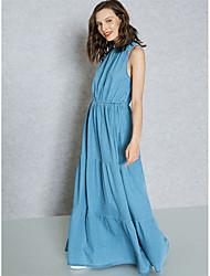 economico -Per donna sofisticato / Moda città Tubino / A tunica / Swing Vestito Tinta unita Maxi