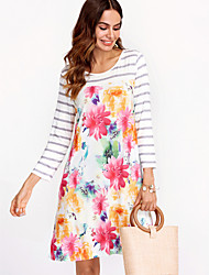 cheap -Women's Basic Loose Dress - Floral