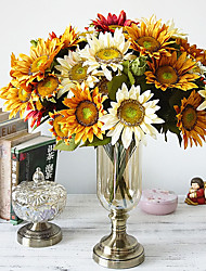 cheap -Artificial Flowers 1 Branch European / Pastoral Style Sunflowers Tabletop Flower / Not Included