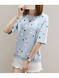 cheap -Women's Basic T-shirt - Polka Dot Print
