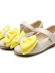 abordables -Chica Zapatos Semicuero Primavera & Otoño Confort / Zapatos para niña florista Bailarinas Pedrería / Pajarita para Niños Beige / Rosa