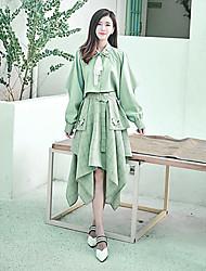 abordables -Mujer Noche Camisa - Un Color Escote en Pico Vestidos / Verano