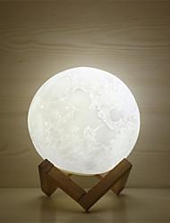 Недорогие -1шт MOON 3D ночной свет / Детский ночной свет Тёплый белый / Белый / Желтый USB Для детей / Перезаряжаемый / Диммируемая Батарея / <5 V