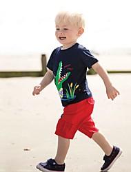 Недорогие -Дети / Дети (1-4 лет) Мальчики Пэчворк С короткими рукавами Футболка