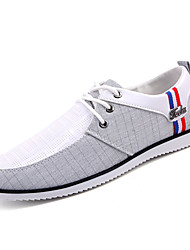 cheap -Men's Light Soles PU(Polyurethane) Fall Sneakers Color Block Beige / White / Blue