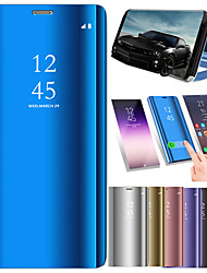 cheap -Case For Xiaomi Redmi 5 Plus / Redmi 5 with Stand / Plating / Mirror Full Body Cases Solid Colored Hard PU Leather for Xiaomi Redmi Note