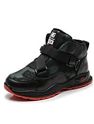 baratos -Para Meninos Sapatos Couro Ecológico Inverno Botas de Neve Botas Elástico para Ao ar livre Roxo Verde Azul