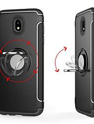 baratos -Capinha Para Samsung Galaxy J7 (2017) / J5 (2017) Suporte para Alianças Capa traseira Sólido Rígida PC para J7 Prime / J7 (2017) / J7 (2016)