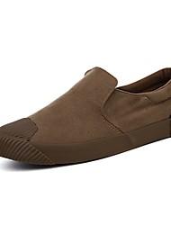 baratos -Homens Sapatos de Condução Lona Verão Conforto Tênis Preto / Camel