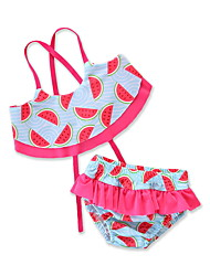 cheap -Kids / Toddler / Newborn Girls' Print Sleeveless Swimwear