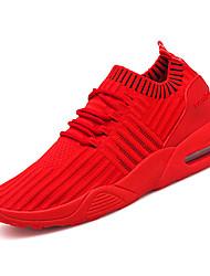Недорогие -Муж. Ткань Осень Удобная обувь Спортивная обувь Беговая обувь Черный / Серый / Красный