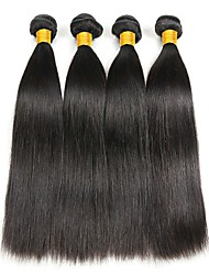 cheap -Peruvian Hair Straight Cosplay Suits / Natural Color Hair Weaves / Tea Party Favors 4 Bundles 8-28 inch Human Hair Weaves Simple / Soft / Thick Natural Color Human Hair Extensions Women's