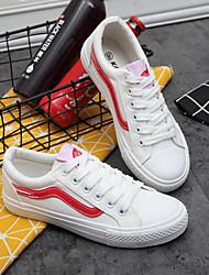 Недорогие -Жен. Обувь Полотно Весна Удобная обувь Кеды На плоской подошве Белый / Черный / Зеленый