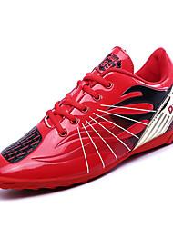 abordables -Homme Chaussures Polyuréthane Automne Confort Chaussures d'Athlétisme Football Rouge / Vert / Bleu