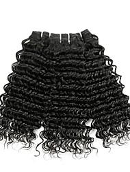 Недорогие -3 Связки Малазийские волосы Кудрявый 8A Натуральные волосы Человека ткет Волосы Удлинитель Пучок волос 8-28 дюймовый Естественный цвет Ткет человеческих волос Машинное плетение Лучшее качество 100