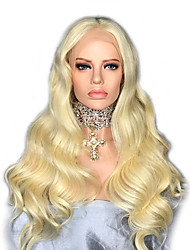 cheap -Remy Human Hair Lace Front Wig Wig Brazilian Hair / Body Wave Wavy 130% Density Women's Long Human Hair Lace Wig
