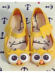 baratos -Para Meninas Sapatos PVC Verão Conforto / Plástico Sandálias para Preto / Amarelo / Vermelho