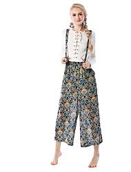 preiswerte -Damen Grundlegend Breites Bein Hose Blumen