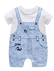 cheap -Baby Unisex Print Short sleeves Romper