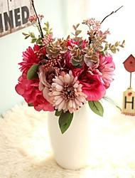 baratos -Flores artificiais 6 Ramo Casamento / Estilo simples Rosas / Flores eternas Flor de Mesa