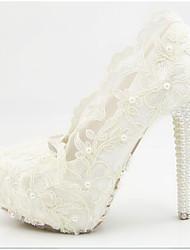 economico -Per donna Scarpe PU (Poliuretano) Estate Comoda scarpe da sposa Plateau Bianco