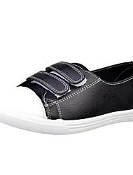 Недорогие -Жен. Обувь Искусственное волокно Лето Удобная обувь На плокой подошве На плоской подошве Круглый носок Белый / Черный