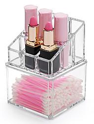 cheap -Plastic Rectangle New Design Home Organization, 1pc Holders / Makeups Storage / Desktop Organizers