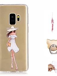 Недорогие -Кейс для Назначение SSamsung Galaxy S9 Plus / S9 С узором Кейс на заднюю панель Соблазнительная девушка Мягкий ТПУ для S9 / S9 Plus
