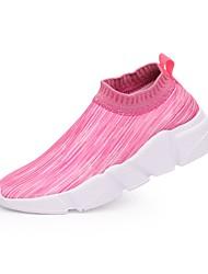 Недорогие -Жен. Обувь Ткань Лето Удобная обувь Мокасины и Свитер На плоской подошве Закрытый мыс Розовый / Черный / Красный