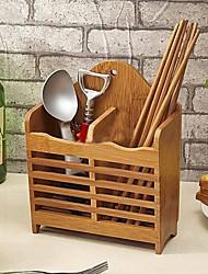 economico -Organizzazione della cucina Scaffali e porta-oggetti Bambù Facile da usare 1pc